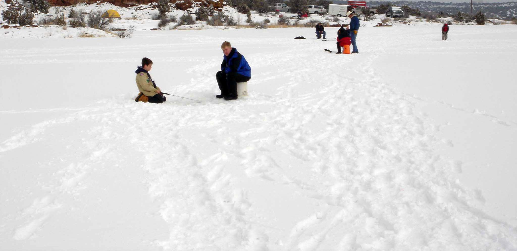 Ice Fishing at Six Lakes Resort